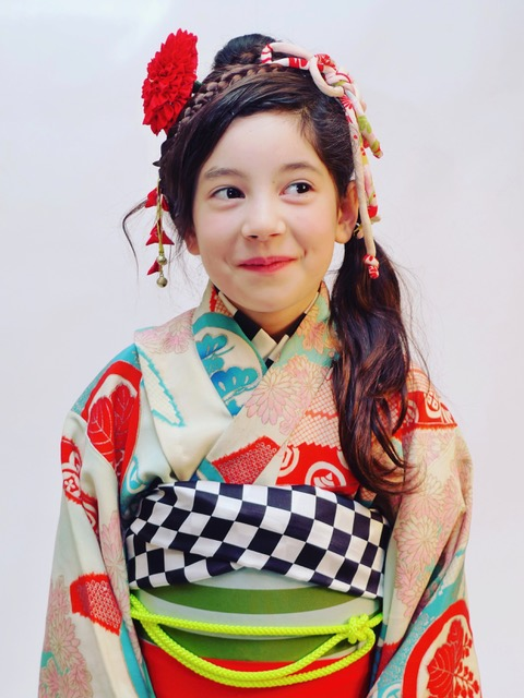 Kyoko Kimonou0027s kids kitsuke and hair for u201cShichi-go-sanu201d a traditional rite of passage and festival day in Japan for three- and seven-year-old girls and ...  sc 1 st  Kyoko Inatome & 7-5-3 Kids Hair u0026 Styling u2013 Kyoko Inatome